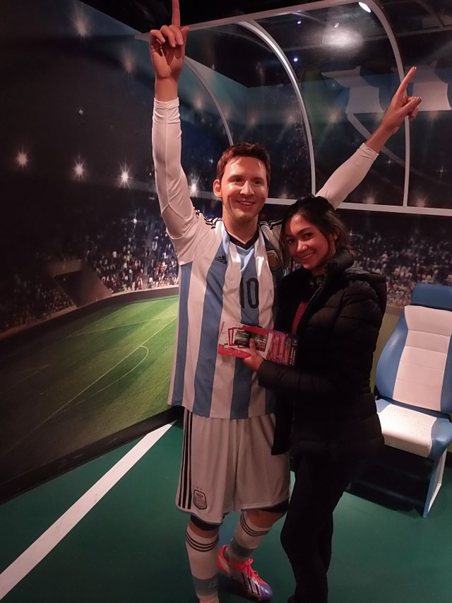 Lionel Messi at Madame Tussauds