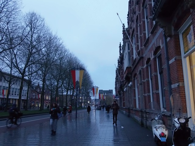 Walking around Den Bosch in a rainy evening