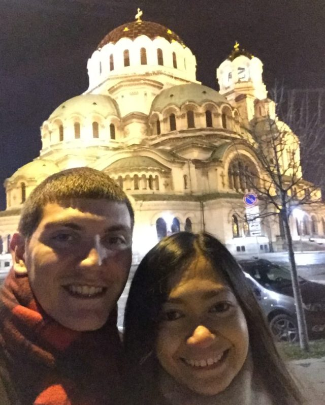 Selfie with the St. Alexander Nevsky Cathedral