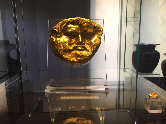 Thracian guy from the Gold and Bronze exhibit