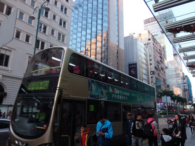 Hong kong double deck buses
