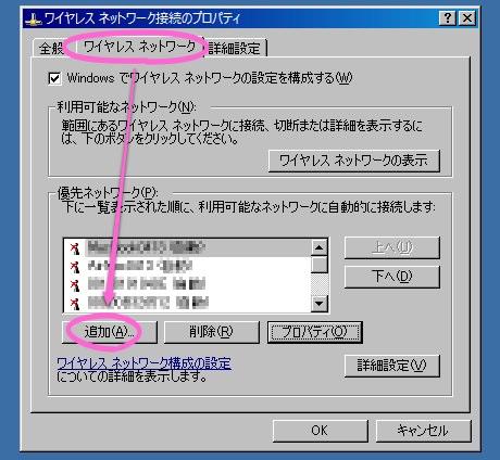 画像:ワイヤレス ネットワーク接続のプロパティ