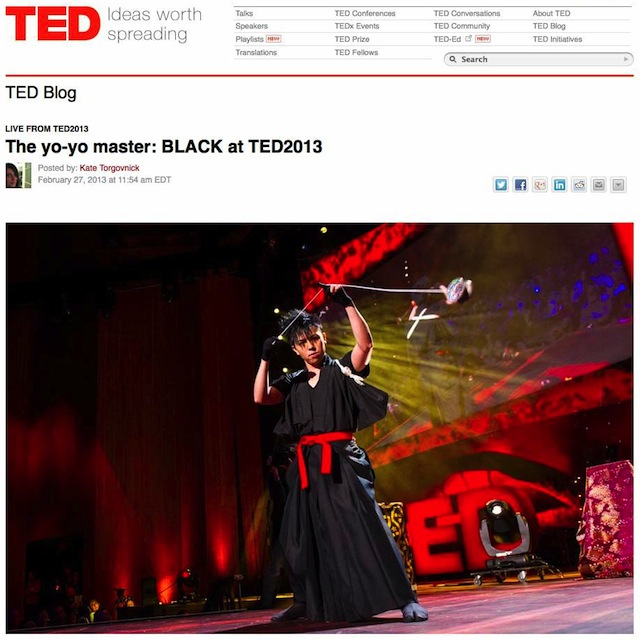 The yo-yo master- BLACK at TED2013