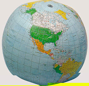Products  Political Globe with Currents Vinyl inflatable globe can be used with exercises that involve illustrating  the Earth  Blow it up when you do the exercise and deflate to store