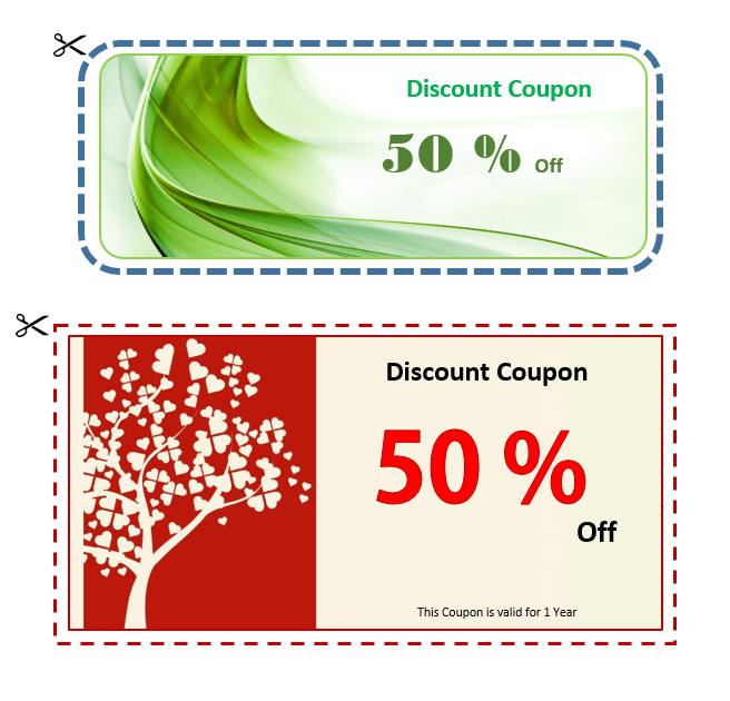 photo about Printable Voucher called Printable Coupon Voucher Archives - MS Office environment Files