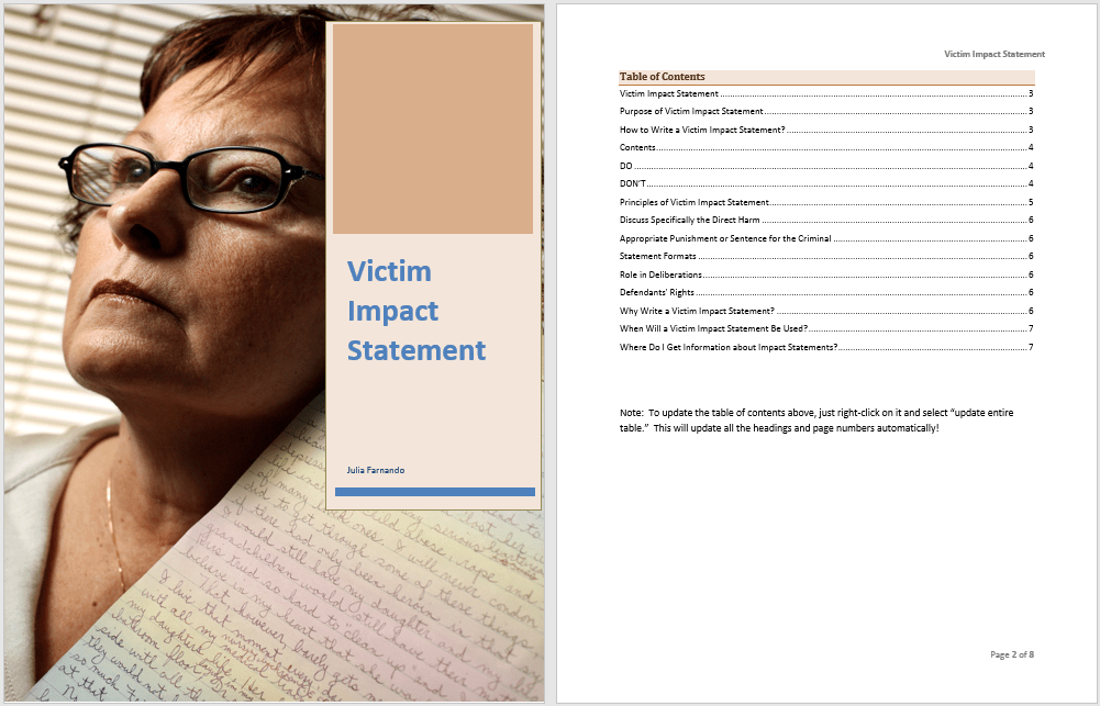 Impact Statement Template] Financial Policy Impact Statement ...