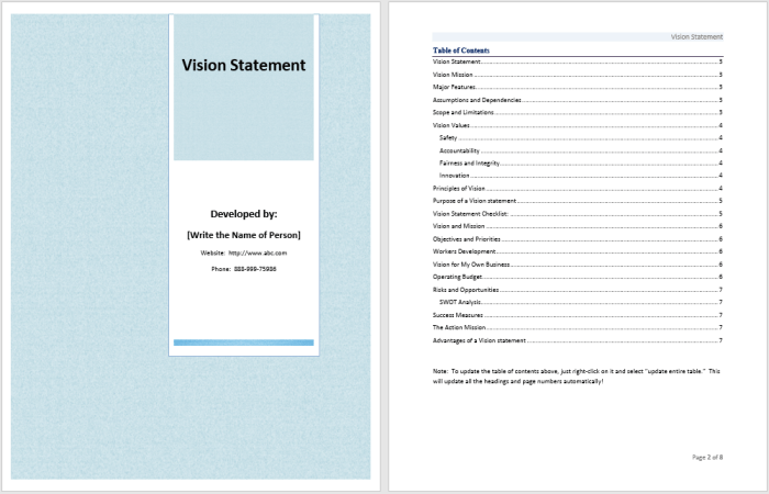 17 free vision statement templates ms office documents vision statement template maxwellsz