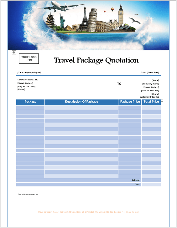 16 free travel service quotation templates ms office documents