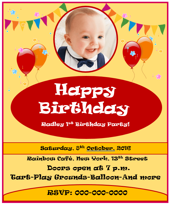17 Free Kids Birthday Invitation Templates