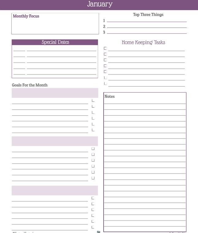 17  free monthly to do list templates