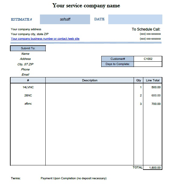 Free Painting Work Quotation Template (18 Templates) - MS Office ...