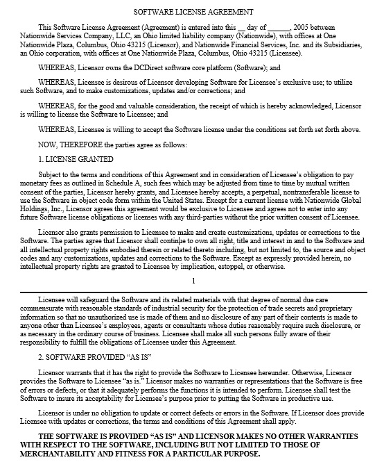 18 Free Vendor Oriented Software License Agreement Templates