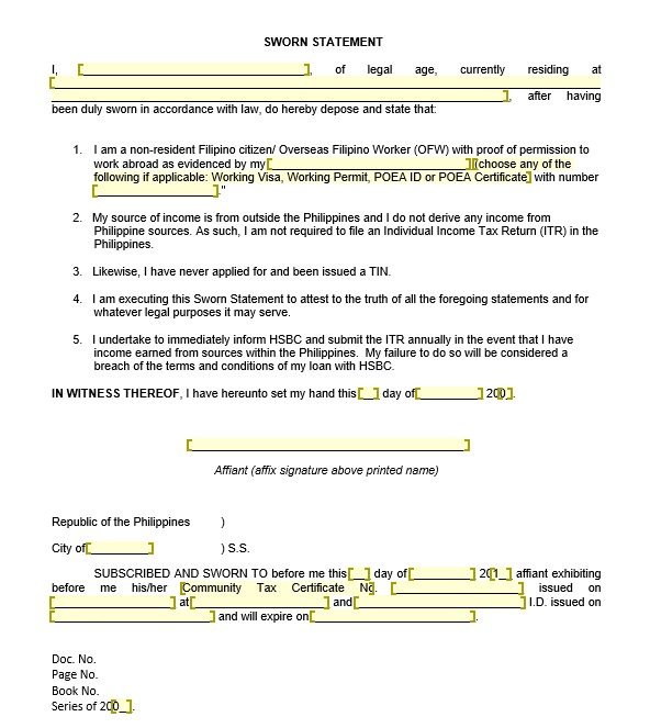 16 free sworn statement templates ms office documents here is preview of a free sworn statement template created by my staff using ms word thecheapjerseys Image collections
