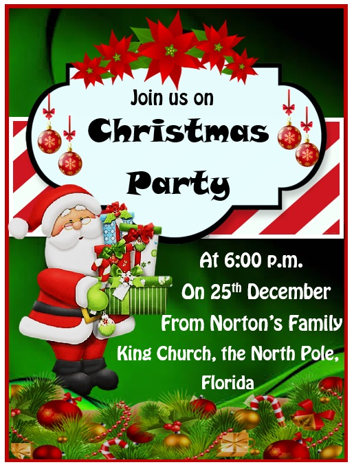 15 Free Christmas Party Invitation Templates Ms Office