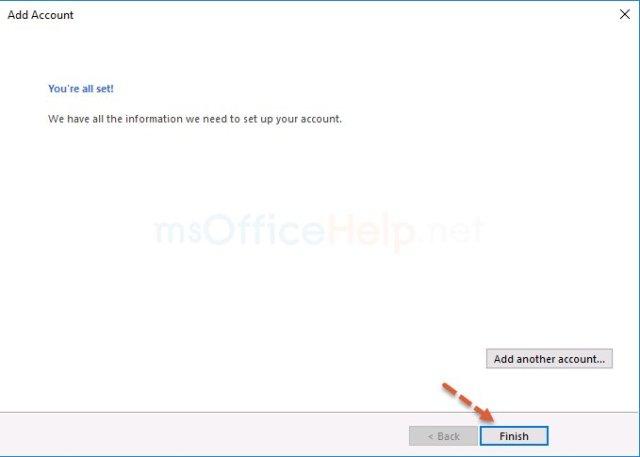 ตั้งค่า gmail ใน outlook