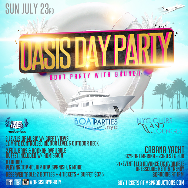 Oasis Day Party, boat brunch