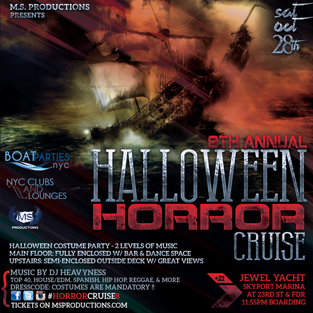 8th Annual Halloween Horror Cruise, midnight boat party