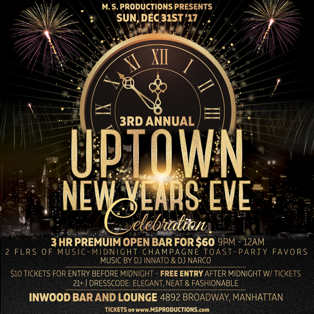 3rd Annual Uptown New Year's Eve Party