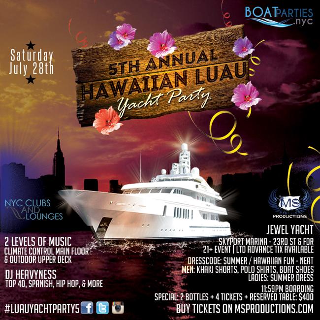NYC Hawaiian Luau Yacht Party