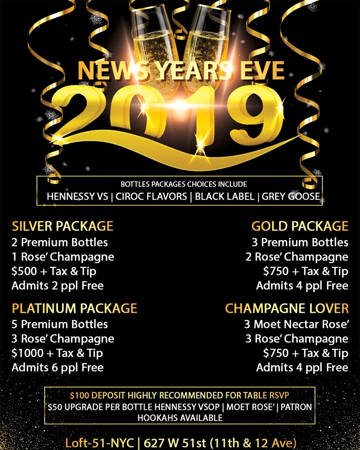 loft 51 nye bottle packages