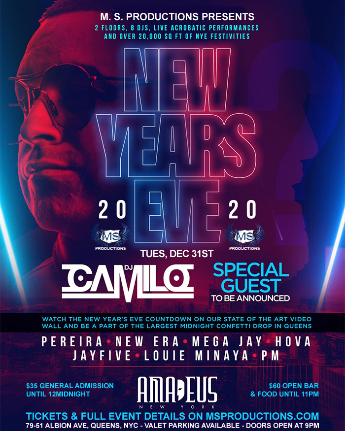 new years eve party at club amadeus nyc nightclub