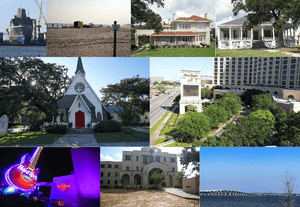 Locations along the Mississippi Gulf Coast