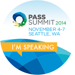 I'm Speaking at PASS Summit 2014