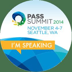 I'm Speaking at PASS Summit 2014