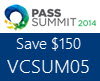 PASS Summit Save $150 off with VCSUM05