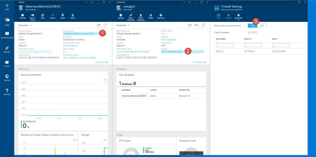 Azure SQL Database - Change Firewall Setting