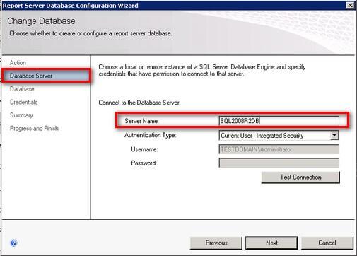 SQL Server 2008 R2 Reporting Services Server Name