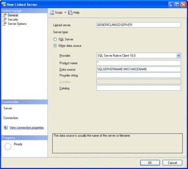 SQL Server Linked Server Creation - GUI