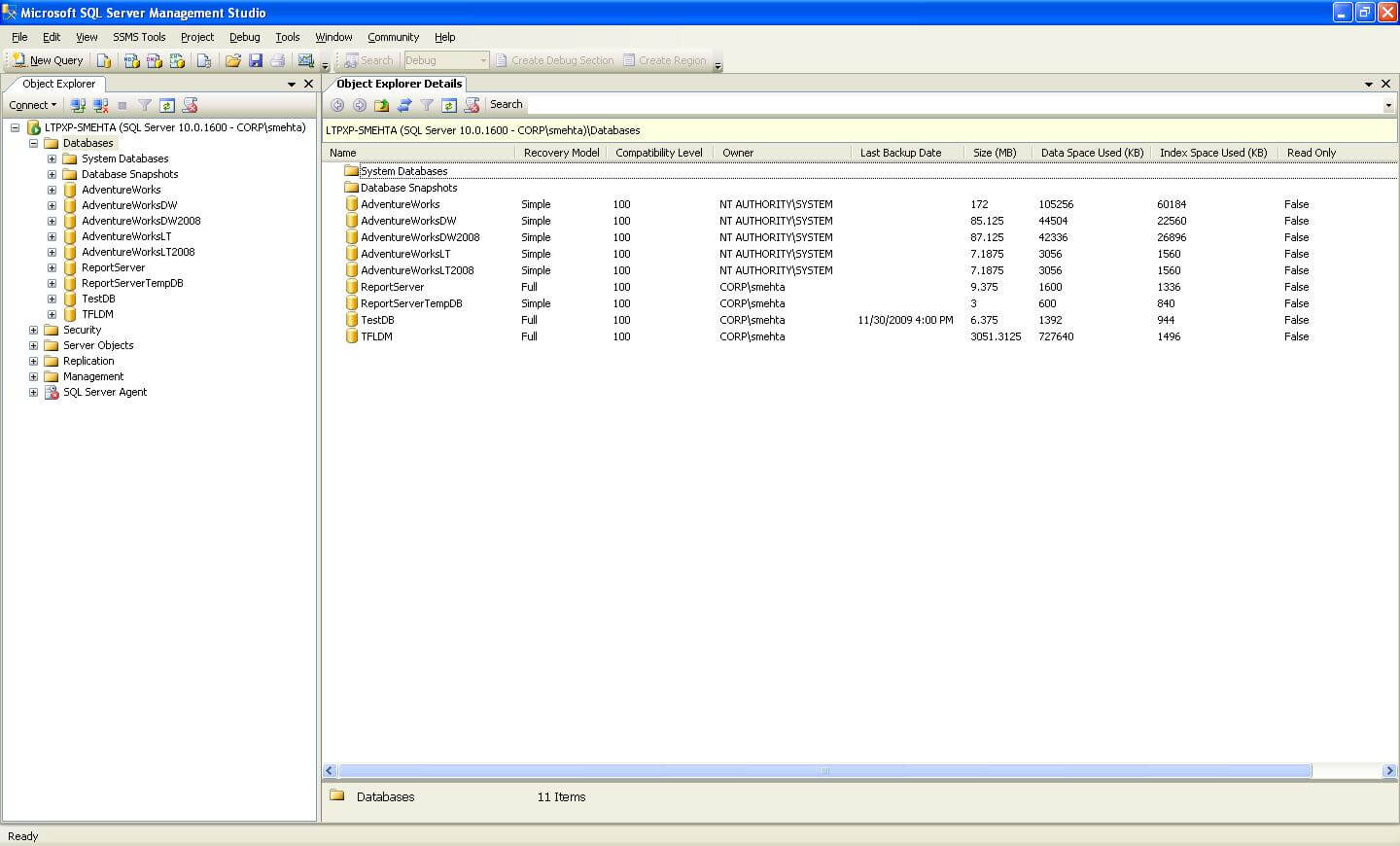Create A Simple Sql Server Database Server Object Report