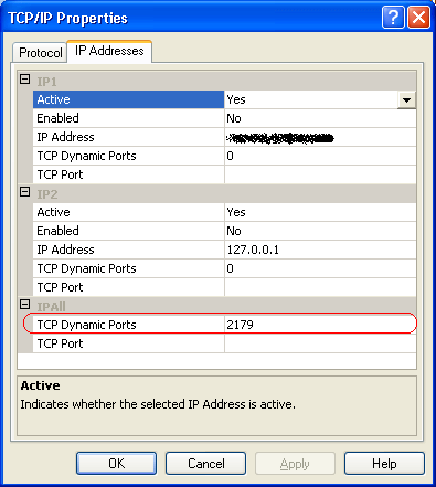 sql configuration manager port number