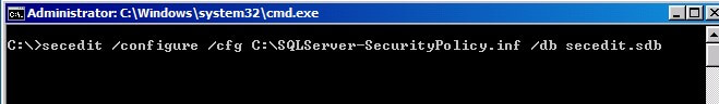 Using secedit to import security policies