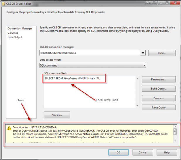 how to make source connection globally ssis