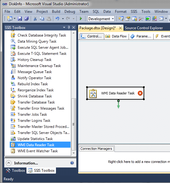 From the SSIS toolbox...