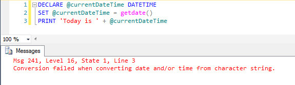 DATETIME String Error