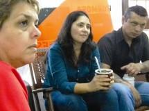 Rivas junto a Nilda Patiño, en la sede del sindicato docente GDA