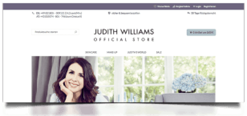 Judith Williams Magento Shop