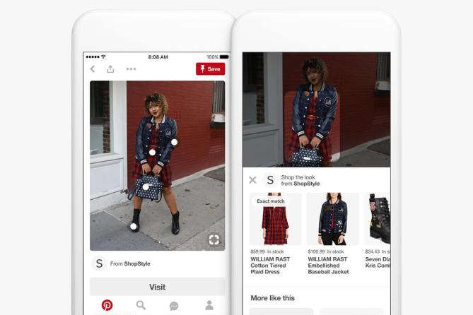 Shop-the-Look-Funktion auf Pinterest