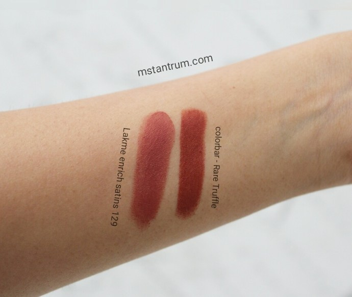 swatches of indian highstreet lipsticks