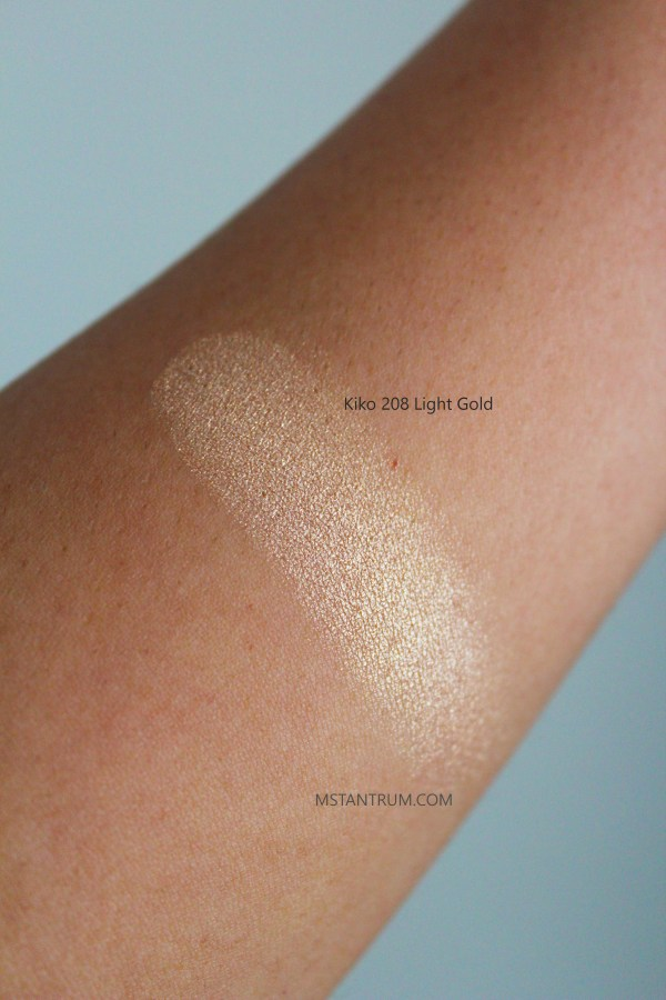 kiko 208 eyeshadow swatch