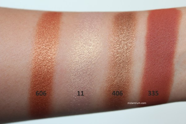 Inglot Freedom System eyeshadow swatches WITH FLASH