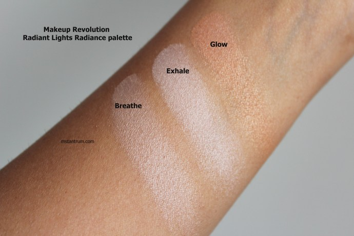 Makeup Revolution Radiant Lights Radiance Palette swatches on mstantrum.com