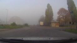 mglisty poranek w Szczecinie