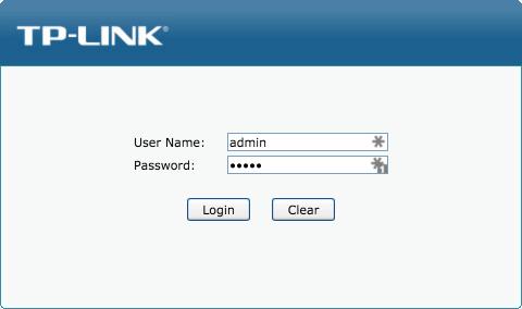 TP-Link-Login-Page