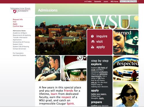 Washington State University Admissions Site