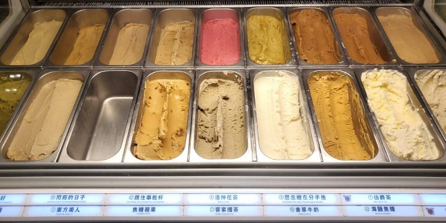 There are so many ice-cream flavours to choose from at Miyahara!