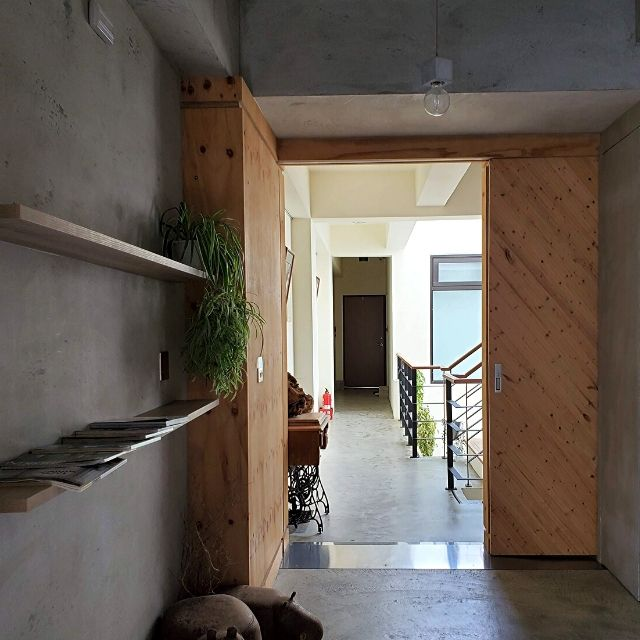 View of the hallway and main staircase.